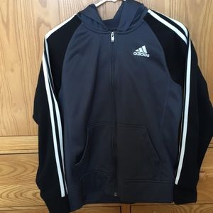 Boys adidas hoodie jacket with zipper size large
